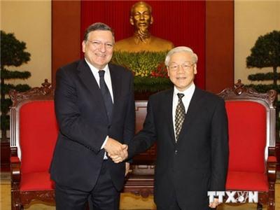 Tổng Bí thư Nguyễn Phú Trọng tiếp Chủ tịch Ủy ban châu Âu