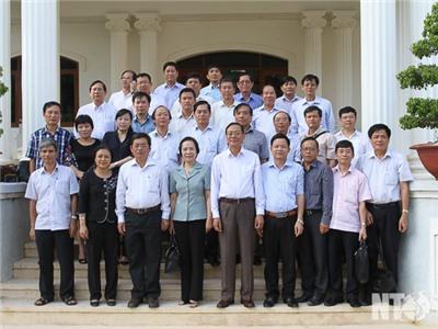 Lãnh đạo tỉnh tiếp, làm việc với Đoàn nghiên cứu thực tế Lớp bồi dưỡng dự nguồn cán bộ cao cấp khóa IV