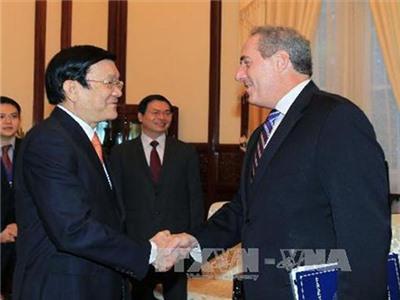 Chủ tịch nước Trương Tấn Sang tiếp Đại diện Thương mại Hoa Kỳ