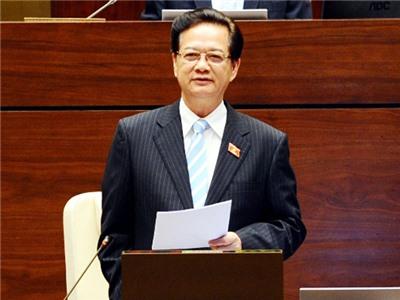 Thủ tướng Nguyễn Tấn Dũng trả lời chất vấn trước Quốc hội