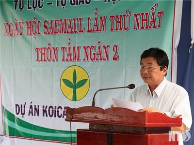 Đồng chí Lưu Xuân Vĩnh, Chủ tịch UBND tỉnh dự Ngày lễ Nông thôn mới ở Ninh Sơn