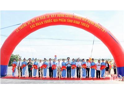 Thông xe dự án đầu tư nâng cấp, mở rộng Quốc lộ 1 đoạn qua địa phận Ninh Thuận