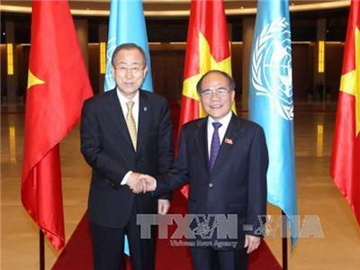 Chủ tịch Quốc hội tiếp TTK Liên hợp quốc Ban Ki-moon
