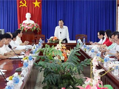 Đoàn công tác Ban Dân vận Trung ương làm việc với Huyện ủy Ninh Sơn
