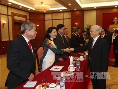 Tổng Bí thư tiếp các Đại sứ, Trưởng cơ quan đại diện Việt Nam ở nước ngoài