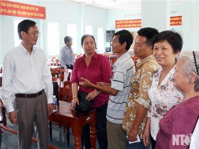 Đồng chí Nguyễn Đức Thanh, Bí thư Tỉnh ủy tiếp xúc cử tri