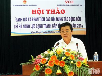 Hội thảo đánh giá kết quả chỉ số năng lực cạnh tranh cấp tỉnh năm 2014