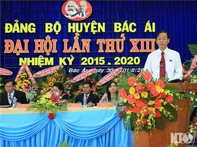 Khai mạc Đại hội đại biểu Đảng bộ huyện Bác Ái lần thứ XIII, nhiệm kỳ 2015 – 2020