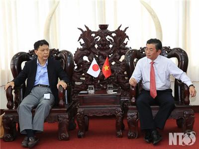 Đồng chí Lưu Xuân Vĩnh, Chủ tịch UBND tỉnh tiếp Đoàn công tác của Đại sứ quán Nhật Bản