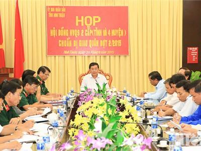 UBND tỉnh: Họp Hội đồng Nghĩa vụ quân sự 2 cấp chuẩn bị công tác giao quân đợt II- năm 2015