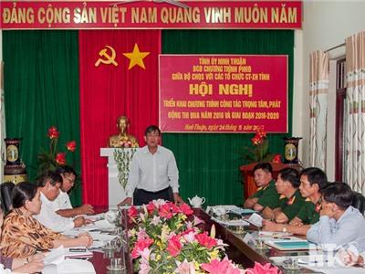Bộ CHQS tỉnh và các tổ chức chính trị-xã hội tỉnh: Triển khai chương trình phối hợp hoạt động