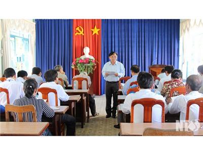 Đoàn giám sát Ủy ban MTTQVN tỉnh làm việc với xã Phước Hà