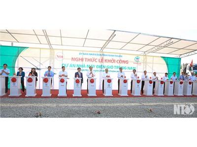 Khởi công Dự án Nhà máy điện gió Trung Nam