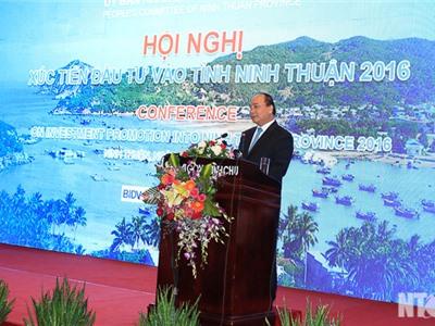 Ninh Thuận: Tổ chức Hội nghị Xúc tiến đầu tư năm 2016