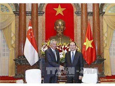 Chủ tịch nước: Singapore luôn là đối tác kinh tế hàng đầu của Việt Nam