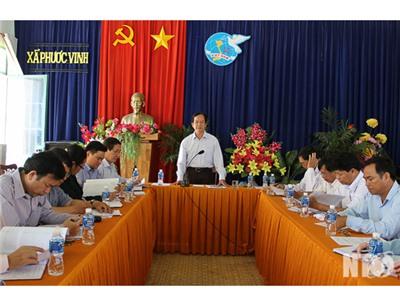 Đồng chí Trần Minh Lực, Phó Chủ tịch HĐND tỉnh khảo sát tình hình phát triển kinh tế-xã hội tại xã Phước Vinh