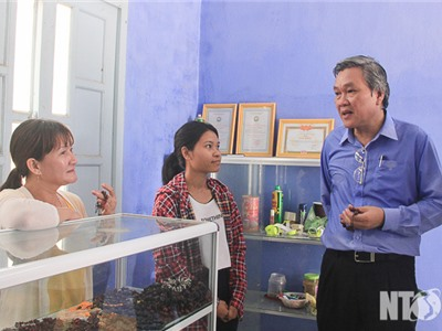 Đồng chí Lê Văn Bình, Phó Chủ tịch UBND tỉnh khảo sát các điểm du lịch xã Vĩnh Hải