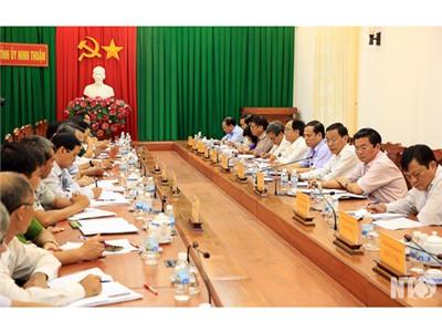 Ban Thường vụ Tỉnh ủy làm việc với Thành ủy Phan Rang-Tháp Chàm