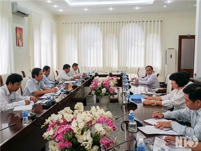 Đồng chí Phạm Văn Hậu, Phó Chủ tịch UBND tỉnh làm việc với Công ty TNHH Thương mại và Xây dựng Vương Thành Đạt