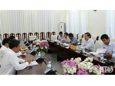 Đồng chí Phạm Văn Hậu, Phó Chủ tịch UBND tỉnh làm việc với Liên danh Công ty Cổ phần Licogi 16