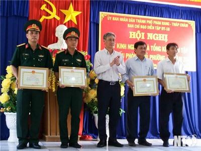 Tp. Phan Rang - Tháp Chàm: Tổ chức diễn tập chiến đấu phòng thủ cấp phường, xã năm 2018