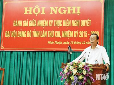 Tỉnh ủy tổ chức Hội nghị đánh giá giữa nhiệm kỳ thực hiện Nghị quyết Đại hội Đảng bộ tỉnh lần thứ XIII