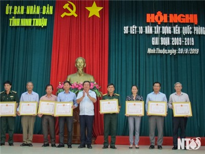 Ủy ban nhân dân tỉnh: Sơ kết 10 năm xây dựng nền quốc phòng toàn dân giai đoạn 2009-2019