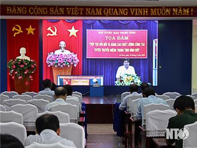 Ban Tuyên giáo Trung ương tổ chức toạ đàm trực tuyến toàn quốc công tác tuyên truyền miệng
