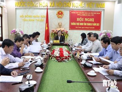 Hội nghị Thường trực HĐND tỉnh tháng 1-2021