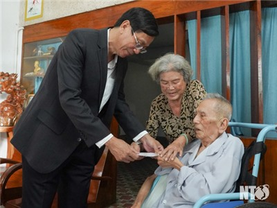 Đồng chí Nguyễn Đức Thanh, Ủy viên Trung ương Đảng, Bí thư Tỉnh ủy, Chủ tịch HĐND tỉnh thăm, chúc tết Tân Sửu 2021