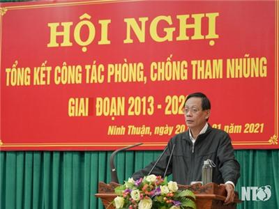 Tỉnh ủy: Tổng kết công tác phòng, chống tham nhũng giai đoạn 2013-2020