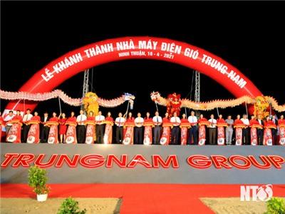 Lễ khánh thành Dự án Nhà máy điện gió Trung Nam