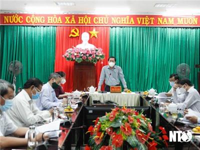 Tổ khảo sát số 1 của Tỉnh ủy làm việc với Thành ủy Phan Rang - Tháp Chàm
