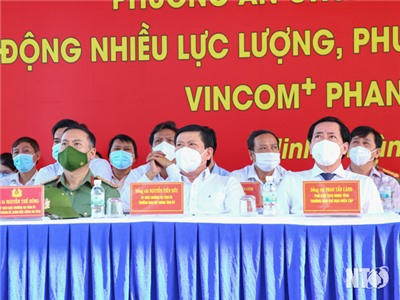 Đồng chí Phan Tấn Cảnh, UVTV Tỉnh uỷ, Phó Chủ tịch UBND tỉnh dự diễn tập Phương án chữa cháy và cứu nạn, cứu hộ cấp tỉnh năm 2021