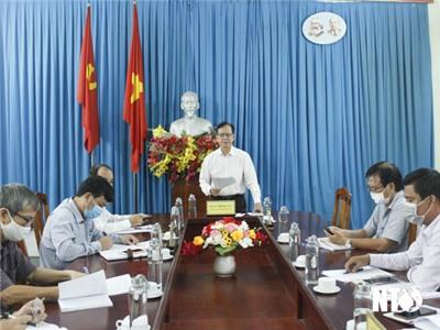 Tổ khảo sát số 2 của Tỉnh ủy làm việc với Sở Nông nghiệp và Phát triển nông thôn